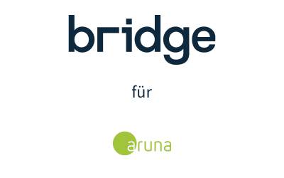 Bridge ist Partner für die Digitalisierung von Beratungs- und Vertriebsprozessen beim Maklerpool aruna