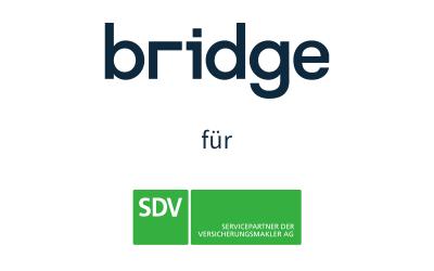 Die SDV AG arbeitet mit Bridge als Softwarepartner – Vermittler erhalten Unterstützung beim Einstieg in die Online-Beratung