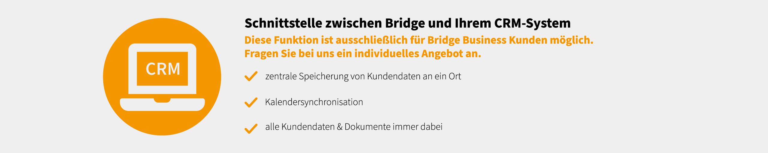 Bridge CRM Schnittstelle