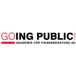 Logo Going Public - Akademie für Finanzberatung AG
