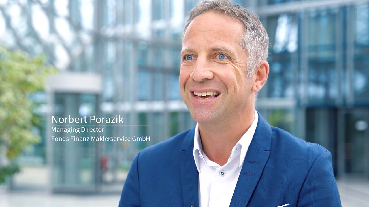 Read success stories of our customers: Norbert Porazik, Managing Director of Fonds Finanz Maklerservice GmbH