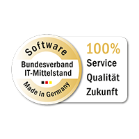 The Seal for Software made in Germany stands for quality, competent customer service and innovation