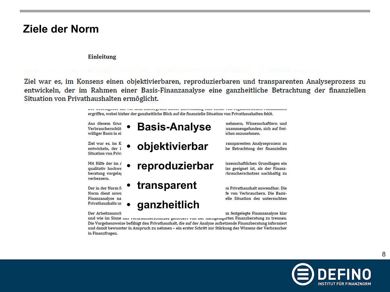 Ziele der DIN 77230 aus der Präsentation von Dr. Klaus Möller auf der Veranstaltung zu DIN 77230 am 05.02.2019 in Berlin